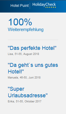 Holiday Check Widget Hotel Puint Ladis